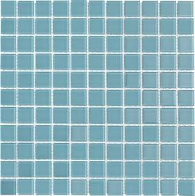 Sklenená mozaika Premium Mosaic tyrkysová 30x30 cm lesk MOS25TU