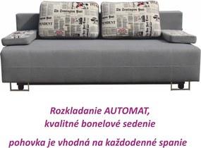 POHOVKA ELIZE ALOVA SIVA+VANKUSE VZOR NOVINY |KUMAXnabytok.sk