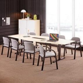Konferenčná stolička Colborne, čierna /šedá