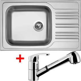 Set Sinks STAR 780 XXL V matný + batéria LEGENDA S