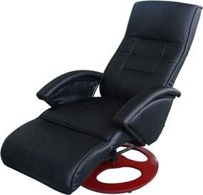 60311 Edco Elektrické masážne kreslo z umelej kože, čierne