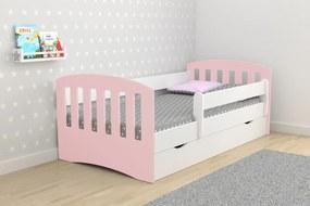 Detská posteľ Ourbaby Classic ružová 180x80 cm