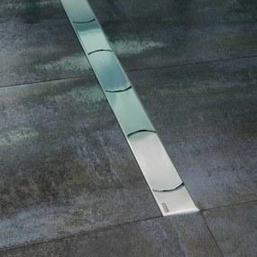 Sprchový žľab Ravak Chrome 85 cm nerez lesk obloučky X01427