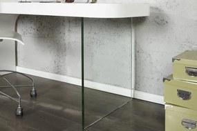 Bighome - Pisací stôl ONYX vo vysokom lesku - biela