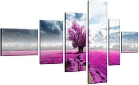 Obraz na plátne Strom na fialovom poli 180x100cm 2034A_6E