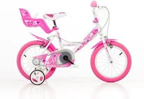 """Detský bicykel, ružová potlač 14"""""""