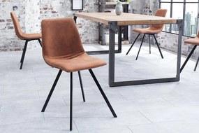 Stolička Amsterdam Retro vintage svetlo hnedá