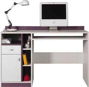 Meblar Písací stolík Stone ST10 Farba: biela borovica / fialová