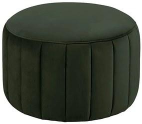 Doria taburetka tmavo zelená