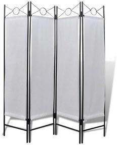 Biely skladací paraván 160 x 180 cm