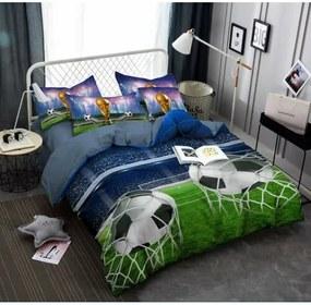 Jahu Obliečky Futbal 3D, 140 x 200 cm, 70 x 90 cm