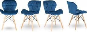 Jedálenské stoličky SKY modré 4 ks - škandinávsky štýl