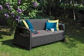 Záhradná lavička OXFORD 3 - hnedá