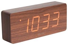 Karlsson 5654DW Dizajnové LED stolné hodiny s budíkom, 21 x 9 cm