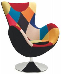 Halmar Relaxační křeslo Farfalla patchwork