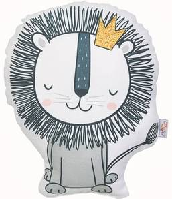 Detský vankúšik s prímesou bavlny Mike & Co. NEW YORK Pillow Toy Lion, 33 x 28 cm