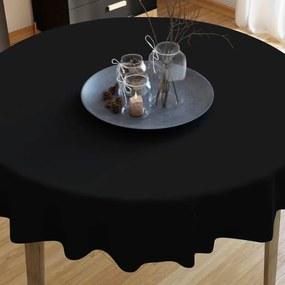Goldea bavlnený obrus čierny - guľatý Ø 70 cm