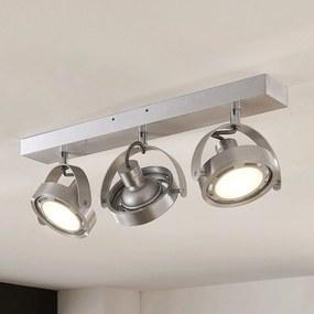 LED svetlo Munin stmievateľné hliník 3-plameňové