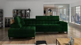 Luxusná sedacia súprava Lambada, zelená Roh: Orientace rohu Levý roh