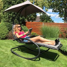 Záhradné relaxačné ležadlo / hojdačka AVENBERG ARIEL