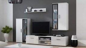 Obývacia stena DORA biela mat/čierna