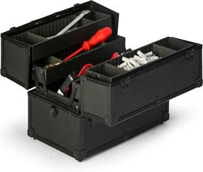 Rozbaľovací hliníkový kufor na náradie, 370 x 233 x 278 mm