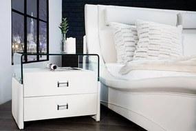 Stolík k posteli Brooklyn biely