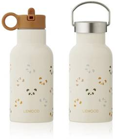 Termosky LIEWOOD Panda Multi mix 350 ml - Sandy - horčicový uzáver