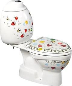 SAPHO - KID dětské WC kombi vč.nádržky, spodní odpad, barevný potisk (CK301.400.0F
