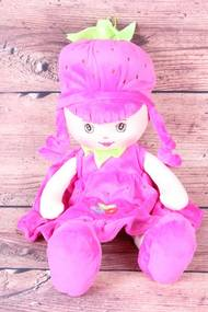 Plyšová bábika JAHÔDKA - cyklámenová (v. 40 cm)