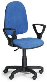 EUROSEAT Kancelárska stolička Torino s podpierkami rúk, modrá