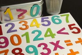 MagWord Magnetické číslice - mix farieb