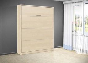 Nabytekmorava Sklápacia posteľ VS 3054 P - 200x140 cm nosnost postele: štandardná nosnosť, farba lamina: breza 1715