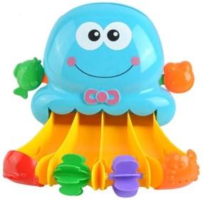ISO Mlynček do vane s prísavkou chobotnice, modrý, 7487