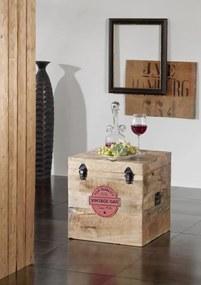 Bighome - COLLAGE truhlica, liatina a mangové drevo