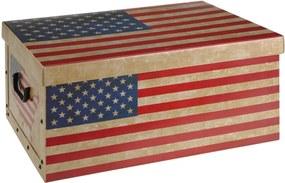 Home collection Úložná krabice Vlajky - USA 49,5x39x24 cm