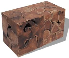 vidaXL Sedadlá/Konferenčný stolík, masívne teakové drevo