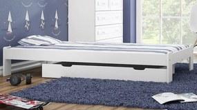 AMI nábytok Postel borovice Adéla 90x200cm masiv bílá