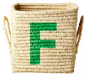 rice Úložný košík Raffia Small - F