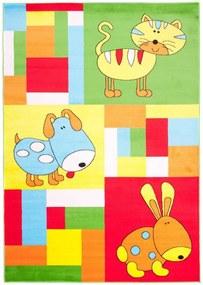 Detský kusový koberec Manny zelený, Velikosti 80x150cm