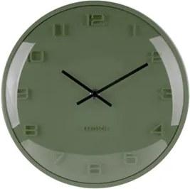 Karlsson Tmavo zelené nástenné hodiny - Karlsson Elevated Pine Green, OE 25 cm