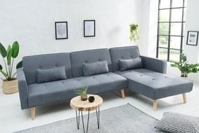 Rohová sedačka rozkladacia Norway - sivá