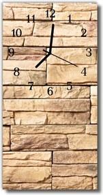 Nástenné hodiny vertikálne  Kamenná múr béžová