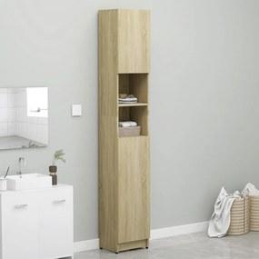 vidaXL Skrinka do kúpeľne, dub sonoma 32x25,5x190 cm, drevotrieska