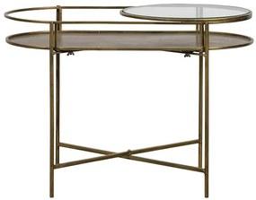 Adorable príručný stolík mosadz