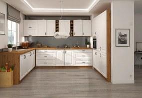 Moderná kuchynská linka 250 x 240 x 180 cm PROVENCE biela/dub artisan