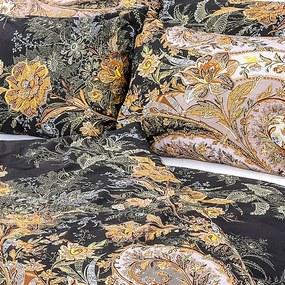 Luxusné bavlnené obliečky Black 140x200/70x90 cm