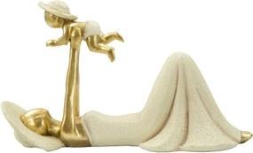 Dekoratívna soška s detailmi v zlatej farbe Mauro Ferretti Baby