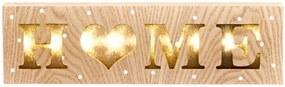 Závesná drevená svietiaca dekorácia Dakls Sweet Home