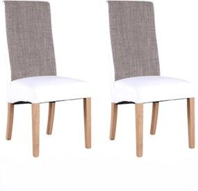 2 kusy, stolička, natural/biela/melír, ARDON